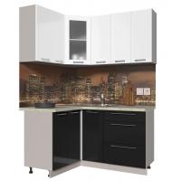 Кухня ПЛАСТИК 1,2х1,5 (Черный/ Белый)