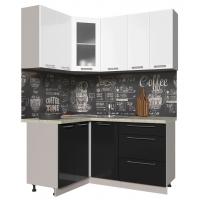 Кухня ПЛАСТИК 1,2х1,6 (Черный/ Белый)