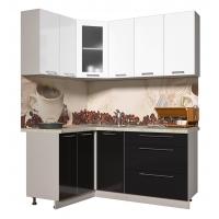 Кухня ПЛАСТИК 1,2х1,8 (Черный/ Белый)