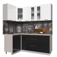 Кухня ПЛАСТИК 1,2х1,9 (Черный/ Белый)