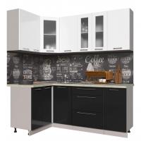 Кухня ПЛАСТИК 1,2х2,0 (Черный/ Белый)