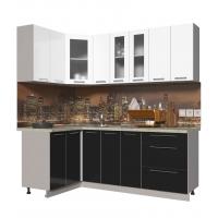 Кухня ПЛАСТИК 1,2х2,1 (Черный/ Белый)