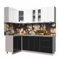 Кухня ПЛАСТИК 1,2х2,2 (Черный/ Белый)