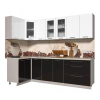 Кухня ПЛАСТИК 1,2х2,6 (Черный/ Белый)
