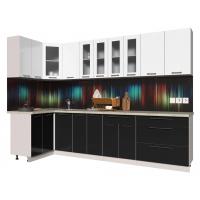 Кухня ПЛАСТИК 1,2х3,0 (Черный/ Белый)