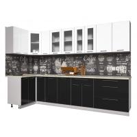 Кухня ПЛАСТИК 1,2х3,1 (Черный/ Белый)