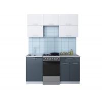 Готовая кухня ГЛОСС 50-16 (Белый/ Асфальт)