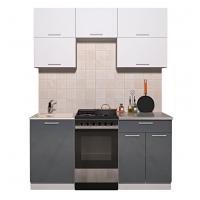 Готовая кухня ГЛОСС 50-17 (Белый/ Асфальт)