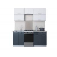 Готовая кухня ГЛОСС 50-18 (Белый/ Асфальт)