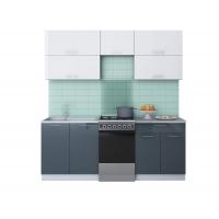 Готовая кухня ГЛОСС 50-20 (Белый/ Асфальт)