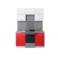 Готовая кухня ГЛОСС 50-15 (Белый/ Красный)