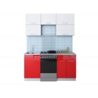 Готовая кухня ГЛОСС 50-16 (Белый/ Красный)