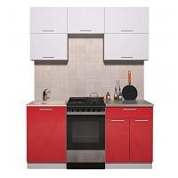 Готовая кухня ГЛОСС 50-17 (Белый/ Красный)