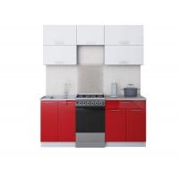 Готовая кухня ГЛОСС 50-18 (Белый/ Красный)