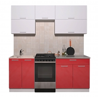 Готовая кухня ГЛОСС 50-19 (Белый/ Красный)