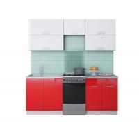 Готовая кухня ГЛОСС 50-20 (Белый/ Красный)