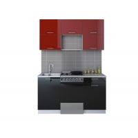 Готовая кухня ГЛОСС 50-15 (Бордовый/ Черный)