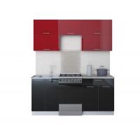 Готовая кухня ГЛОСС 50-18 (Бордовый/ Черный)