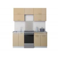 Готовая кухня ГЛОСС 50-18 (Капучино/ Капучино)
