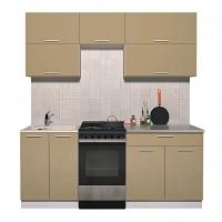 Готовая кухня ГЛОСС 50-19 (Капучино/ Капучино)