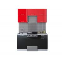 Готовая кухня ГЛОСС 50-15 (Красный/ Черный)