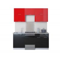 Готовая кухня ГЛОСС 50-18 (Красный/ Черный)