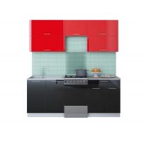 Готовая кухня ГЛОСС 50-20 (Красный/ Черный)