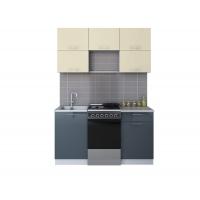 Готовая кухня ГЛОСС 50-15 (Ваниль/ Асфальт)