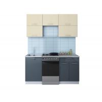Готовая кухня ГЛОСС 50-16 (Ваниль/ Асфальт)