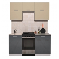 Готовая кухня ГЛОСС 50-17 (Ваниль/ Асфальт)