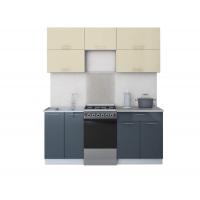 Готовая кухня ГЛОСС 50-18 (Ваниль/ Асфальт)
