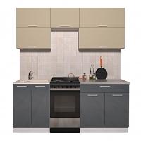 Готовая кухня ГЛОСС 50-19 (Ваниль/ Асфальт)