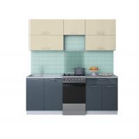 Готовая кухня ГЛОСС 50-20 (Ваниль/ Асфальт)