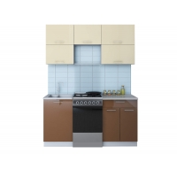 Готовая кухня ГЛОСС 50-16 (Ваниль/ Шоколад)