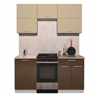 Готовая кухня ГЛОСС 50-17 (Ваниль/ Шоколад)