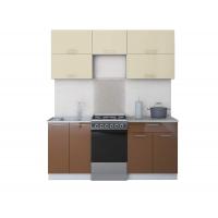 Готовая кухня ГЛОСС 50-18 (Ваниль/ Шоколад)