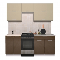 Готовая кухня ГЛОСС 50-19 (Ваниль/ Шоколад)
