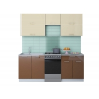 Готовая кухня ГЛОСС 50-20 (Ваниль/ Шоколад)