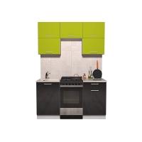 Готовая кухня ГЛОСС 50-15 (Яблоко/ Черный)