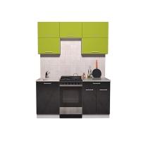 Готовая кухня ГЛОСС 50-16 (Яблоко/ Черный)