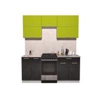 Готовая кухня ГЛОСС 50-18 (Яблоко/ Черный)