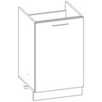 Шкаф нижний под мойку Глосс НШ50м-1дв/без столешницы