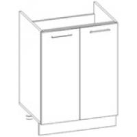 Шкаф нижний под мойку Глосс НШ60м-2дв/без столешницы