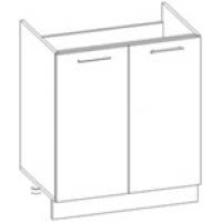 Шкаф нижний под мойку Глосс НШ70м-2дв/без столешницы