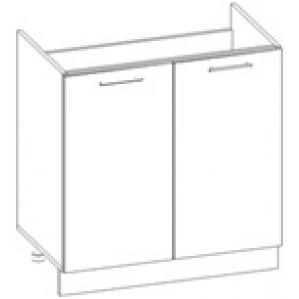 Шкаф нижний под мойку Глосс НШ80м-2дв/без столешницы