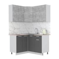Готовая кухня Лайт 1,2x1,4 (Бетон/ Антрацит)
