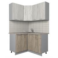 Готовая кухня Лайт 1,2x1,3 (Дуб белый/ Дуб серый)