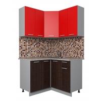 Готовая кухня Лайт 1,2x1,2 (Красный/ Венге)