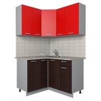 Готовая кухня Лайт 1,2x1,3 (Красный/ Венге)