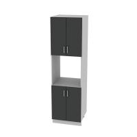 Шкаф пенал Лайт №5 60х215 см (Антрацит)